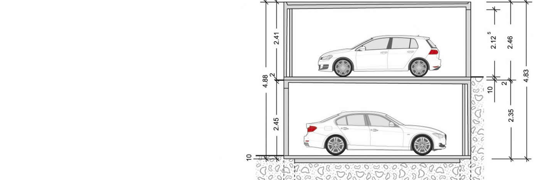 doppelstockgaragen die garagen l sung garagen welt. Black Bedroom Furniture Sets. Home Design Ideas